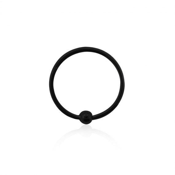 פירסינג טבעת אף שחורה