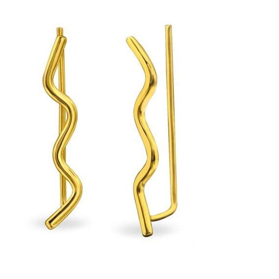 עגילי זהב מטפסים