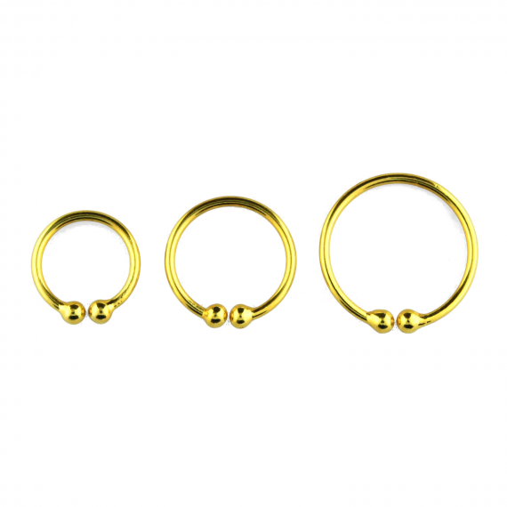 gold plated sterling silver fake septum