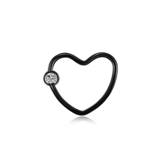 טבעת לחץ לב שחור