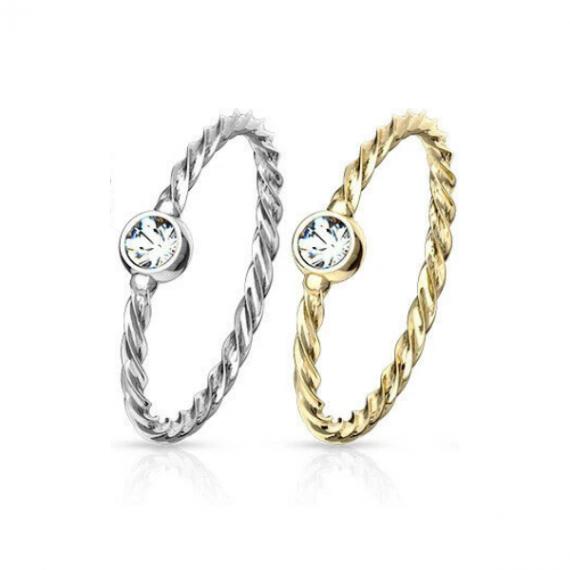 טבעת טוויסט נזם לאף מיוחדת