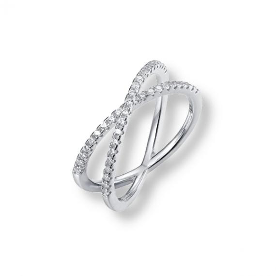 טבעת איקס עם קריסטלים