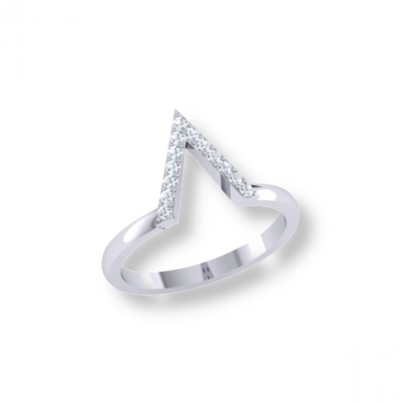 טבעת v עם קריסטלים